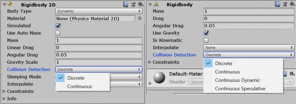 Rigidbody Collision Detection field