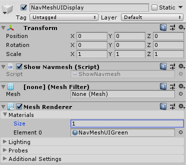 Basic NavMesh dummy GameObject