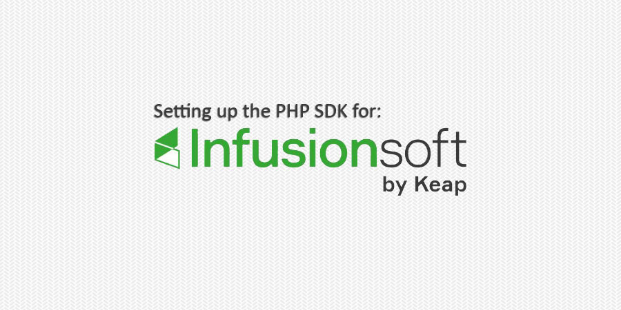 Setting up Infusionsoft's PHP SDK