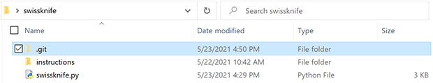 Git project folder