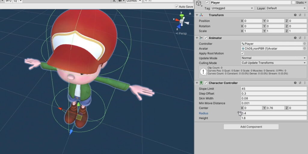Attaching a Character Controller to our player