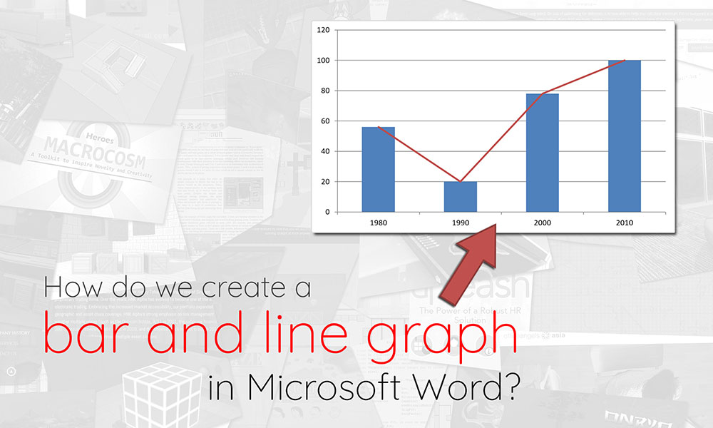Creating a bar and line graph in Microsoft Word