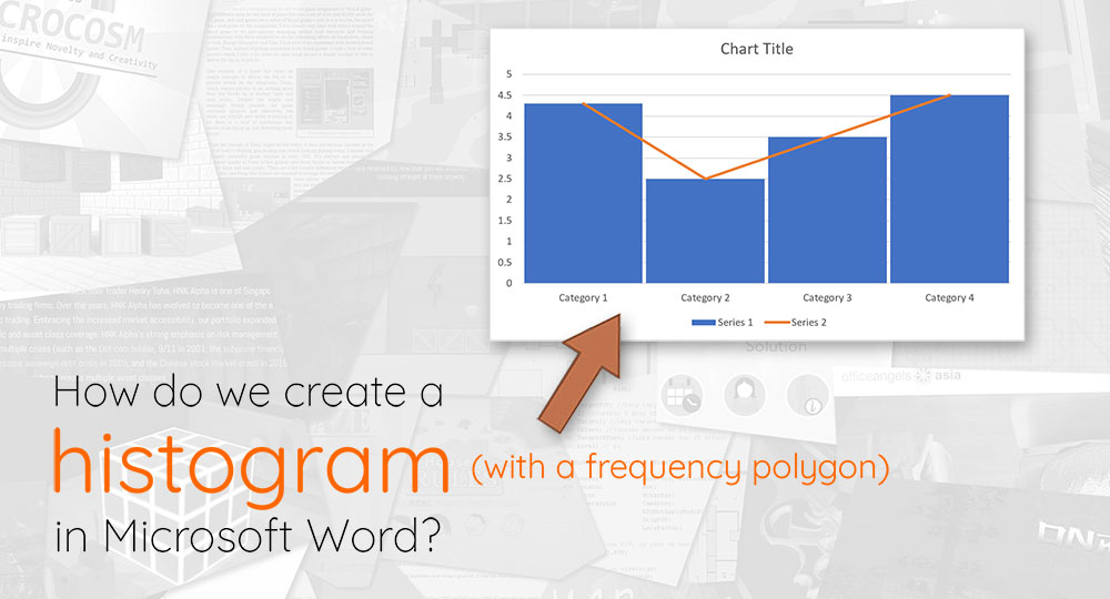 How do we create a histogram in Microsoft Word?