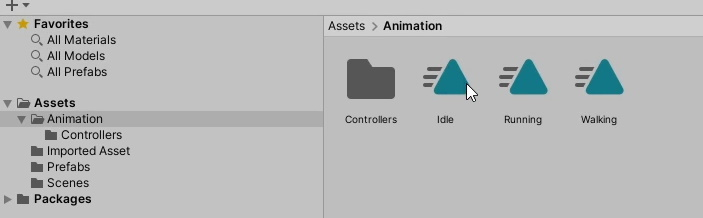 Your animations should be in the right folder