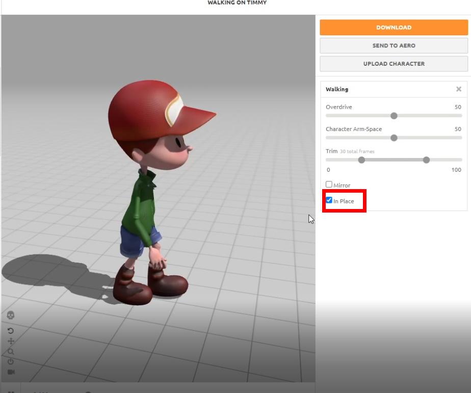 Mixamo movement animations