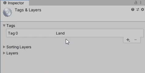 Creating a new Tag called 'Land'