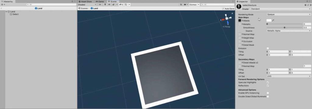 select texture unconfigured