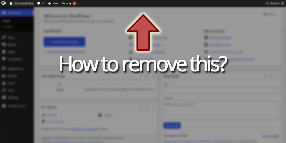 Remove the admin bar from the WordPress admin backend